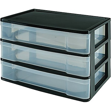 3-Drawer Wide Desktop Chest