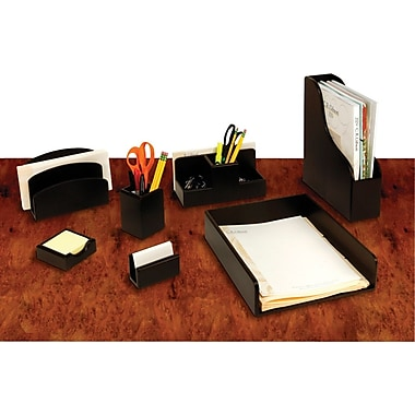 Wood Desk Accessories with Black Finish