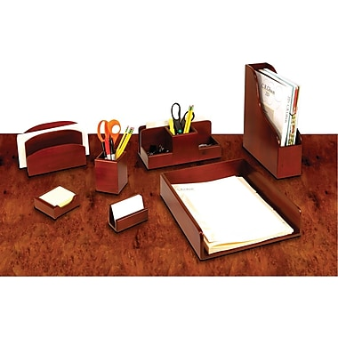 staples 174 wood desk accessories with mahogany finish staples 174