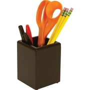 Staples MPH2-7901 Wood Desk Pencil Cup, Black