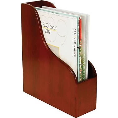 Staples Wood Desk Magazine File,  Mahogany