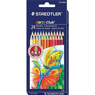 Staedtler® Noris Club ABS Coloured Pencils, Assorted, 24/Pack