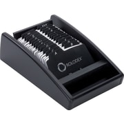 "Rolodex™ Black WoodTones Open Card File, 300-Card, 2-1/4"" x 4"""