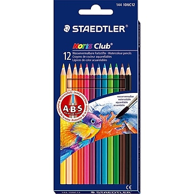 Staedtler® Noris Watercolor Pencils, Assorted Colors, 12/Box