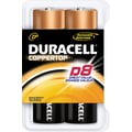 Duracell D Alkaline Batteries, 8/Pack