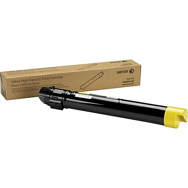 Xerox Phaser 7500 Yellow Toner Cartridge (106R01438), High Yield