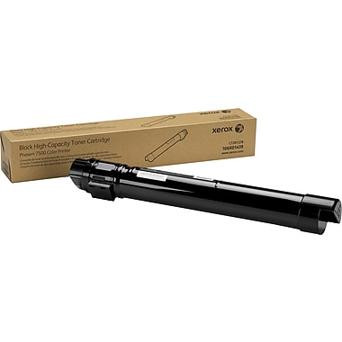 Xerox Phaser 7500 Black Toner Cartridge (106R01439), High Yield