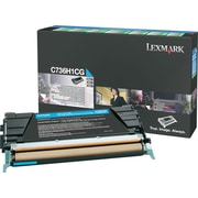 Lexmark Cyan Toner Cartridge (C736H1CG), High Yield, Return Program