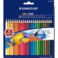 Staedtler® Noris Watercolor Pencils, Assorted Colors, 24/Box