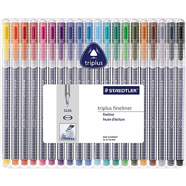 Triplus® Color Markers and Pens, 20/Pack