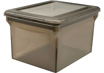 Staples® Letter/Legal File Box, Translucent Smoke