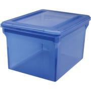 Staples® Letter/Legal File Box, Translucent Blue