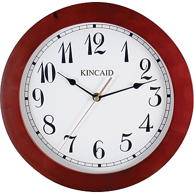 Kincaid ®11 1/2in. Round Wall Clock, Cherry Finish