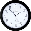 Kincaid 11in. Diameter Black Radio Control Wall Clock