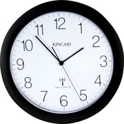 Kincaid 11 Diameter Black Radio Control Wall Clock