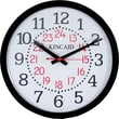 "Kincaid® 14"" Round Wall Clock, Black"