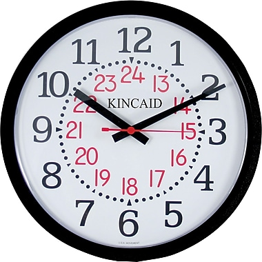 Kincaid® 14in. Round Wall Clock, Black
