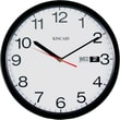 Kincaid® 12in. Round Day/Date Wall Clock, Black