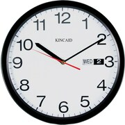Kincaid® 12 Round Day/Date Wall Clock, Black