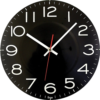 Round 11.5in. Wall Clock, Black
