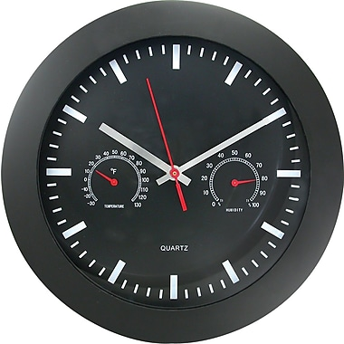 TimeKeeper 12in. Round Wall Clock, Black