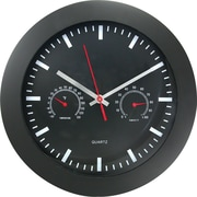 TimeKeeper 12 Round Wall Clock, Black
