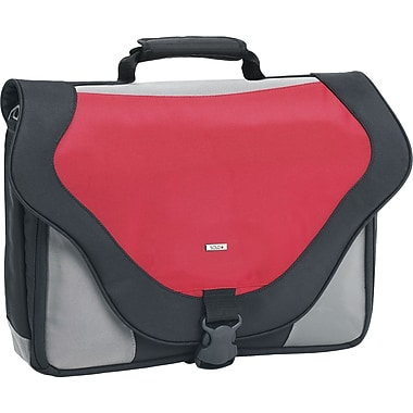 SOLO® Laptop Messenger Bag, Red, 17in.