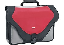SOLO® Laptop Messenger Bag, Red, 17'