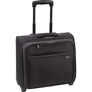 SOLO® Classic Collection Rolling Laptop Overnighter, Black, 16-1/4in.