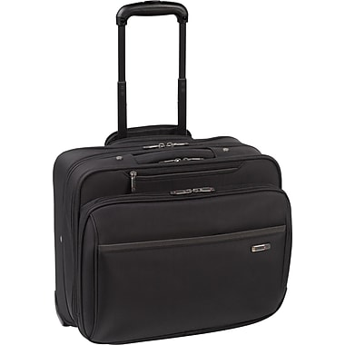 SOLO® Sterling Collection Rolling Laptop Case, Black, 16in.