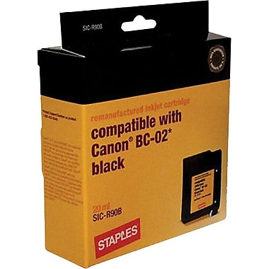 Staples Remanufactured Black Ink Cartridge Compatible with Canon BC-02