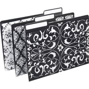 M by Staples™ File Folders, Letter, Assorted Black and White Designs, 6/Pack