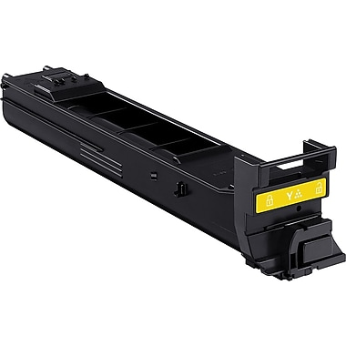 Konica Minolta Yellow Toner Cartridge (A0DK232), High Yield