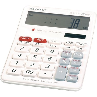 Sharp EL-T100AB Brain Teaser Calculator