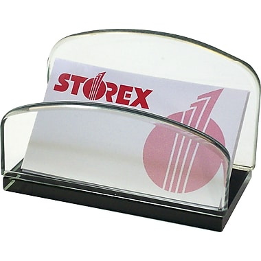 Storex® Onyx Glass Series Business Card Holder