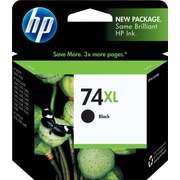 HP 74XL Black Ink Cartridge (CB336WN), High Yield