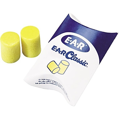 E-A-R® Classic™ Ear Plugs in Pillow Pak™, 33 dB, 200 Pairs/Box