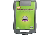 Staples Portable Storage Clipboard, Gray, 9-1/2' x 12', Each/Pack (15786)