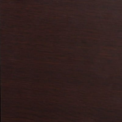 Office Star WorkSmart™ Faux Leather Espresso Finish Leg Guest Chair, Black