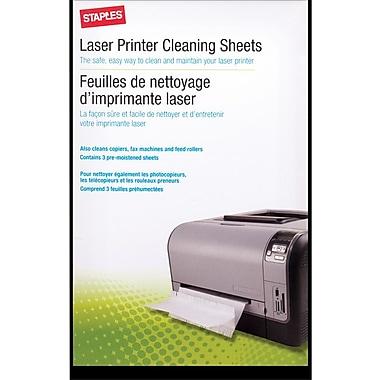 Staples® Laser Printer Cleaning Kit, 3/Pack