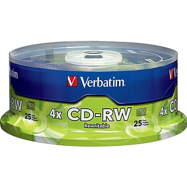 Verbatim® CD-RW 2x-4x 700MB/80min, 25-Pack Spindle