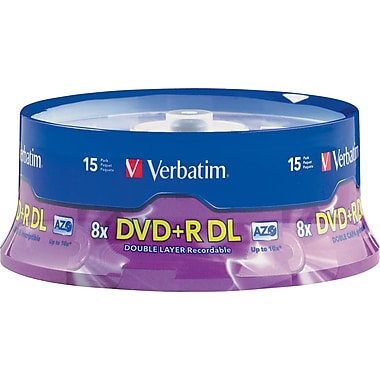Verbatim® - DVD+R DL 8,5 Go, 8x, paquet cyl./15