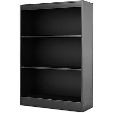 South Shore Work ID 3-Shelf Bookcase, Black