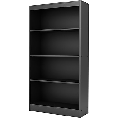 South Shore Work ID 4-Shelf Bookcase, Black