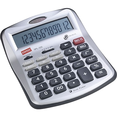 Staples SPL-320-CC 12-Digit Desktop Calculator