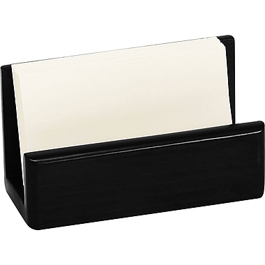 Staples Wood Desk Business Card, Black