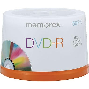 Memorex 50/Pack 4.7GB DVD-R, Spindle