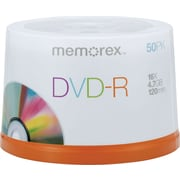 Memorex™ 50/Pack 4.7GB DVD-R, Spindle