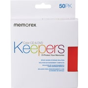 Memorex CD/DVD Keepers, Assorted Colors, 50/Pack (32021972)