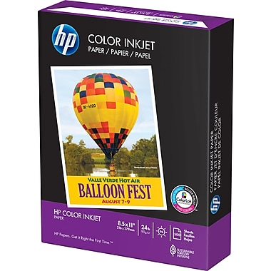 HP Color Inkjet Paper, 8-1/2in. x 11in., Ream